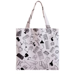Furniture Black Decor Pattern Grocery Tote Bag