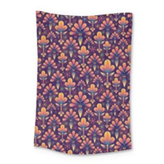 Abstract Background Floral Pattern Small Tapestry by Simbadda