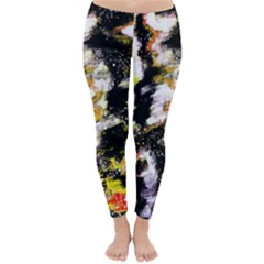 Canvas Acrylic Digital Design Classic Winter Leggings by Simbadda