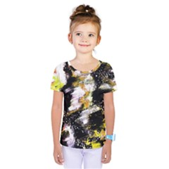 Canvas Acrylic Digital Design Kids  One Piece Tee by Simbadda
