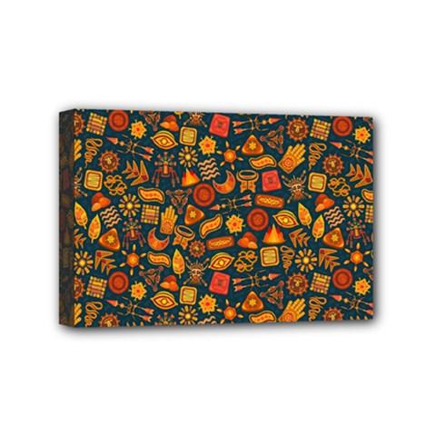 Pattern Background Ethnic Tribal Mini Canvas 6  X 4  by Simbadda