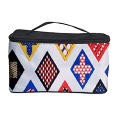 Plaid Triangle Sign Color Rainbow Cosmetic Storage Case by Alisyart