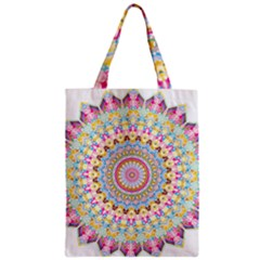 Kaleidoscope Star Love Flower Color Rainbow Zipper Classic Tote Bag by Alisyart