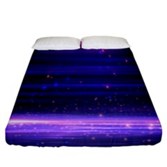 Space Planet Pink Blue Purple Fitted Sheet (california King Size) by Alisyart
