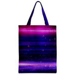 Space Planet Pink Blue Purple Zipper Classic Tote Bag by Alisyart