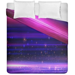 Space Planet Pink Blue Purple Duvet Cover Double Side (california King Size) by Alisyart