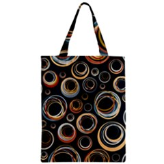 Seamless Cubes Texture Circle Black Orange Red Color Rainbow Classic Tote Bag by Alisyart