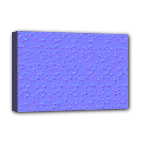 Ripples Blue Space Deluxe Canvas 18  X 12   by Alisyart
