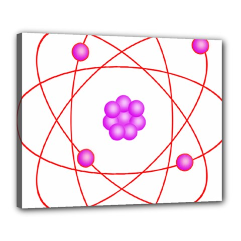 Atom Physical Chemistry Line Red Purple Space Canvas 20  X 16  by Alisyart