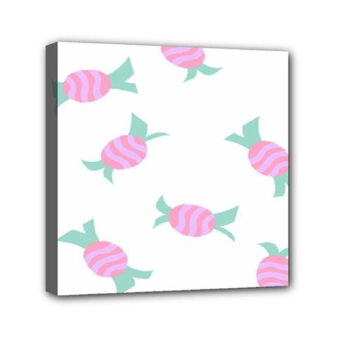 Candy Pink Blue Sweet Mini Canvas 6  X 6  by Alisyart