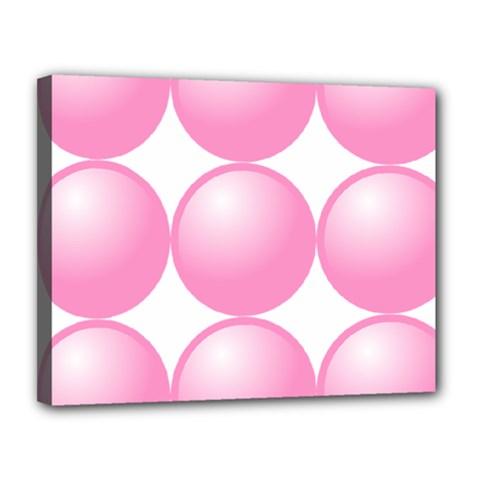 Circle Pink Canvas 14  X 11  by Alisyart
