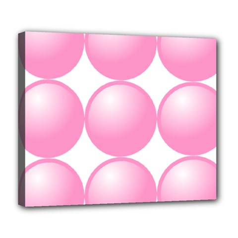 Circle Pink Deluxe Canvas 24  X 20   by Alisyart