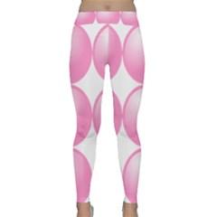 Circle Pink Classic Yoga Leggings by Alisyart