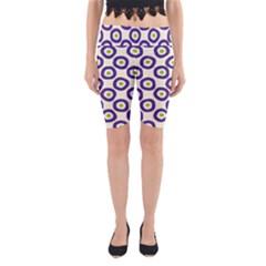 Circle Purple Green White Yoga Cropped Leggings by Alisyart