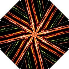 Colorful Diagonal Lights Lines Hook Handle Umbrellas (small) by Alisyart