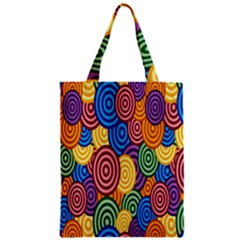 Circles Color Yellow Purple Blu Pink Orange Illusion Classic Tote Bag by Alisyart
