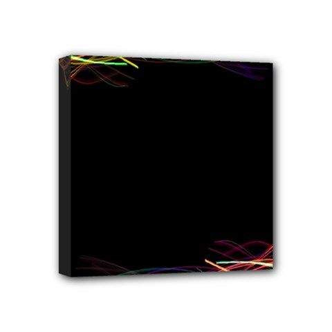 Colorful Light Frame Line Mini Canvas 4  X 4  by Alisyart