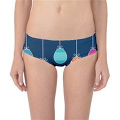 Easter Egg Balloon Pink Blue Red Orange Classic Bikini Bottoms by Alisyart