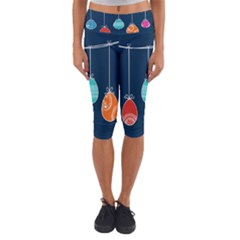 Easter Egg Balloon Pink Blue Red Orange Capri Yoga Leggings by Alisyart