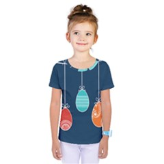 Easter Egg Balloon Pink Blue Red Orange Kids  One Piece Tee by Alisyart