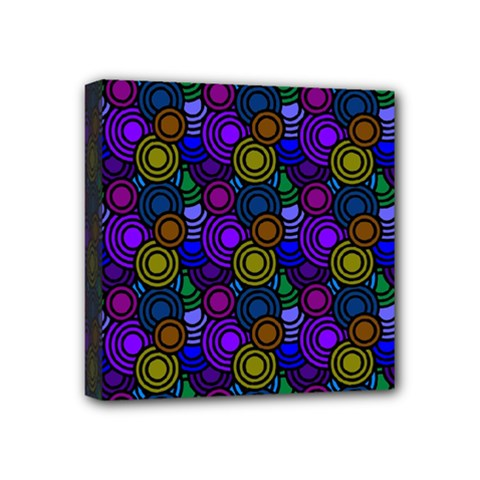 Circles Color Yellow Purple Blu Pink Orange Mini Canvas 4  X 4  by Alisyart