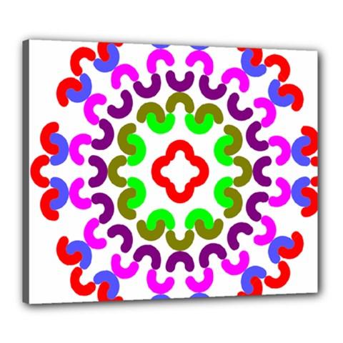 Decoration Red Blue Pink Purple Green Rainbow Canvas 24  X 20  by Alisyart