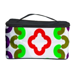 Decoration Red Blue Pink Purple Green Rainbow Cosmetic Storage Case by Alisyart