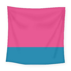 Flag Color Pink Blue Square Tapestry (large) by Alisyart