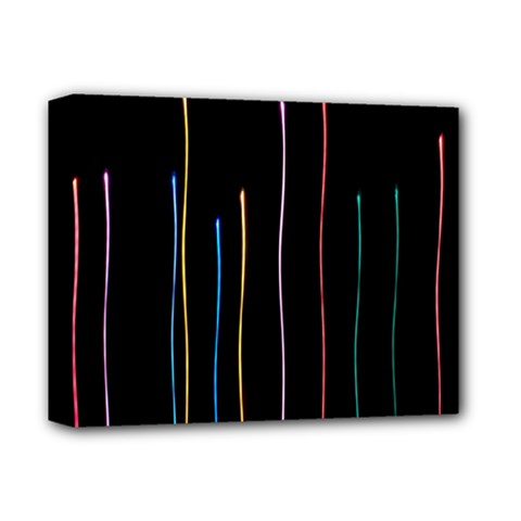 Falling Light Lines Color Pink Blue Yellow Deluxe Canvas 14  X 11  by Alisyart