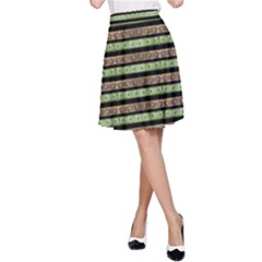 Camo Stripes Print A Line Skirt by dflcprintsclothing