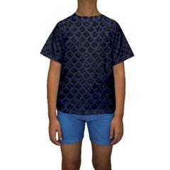 SCA1 BK-MRBL BL-LTHR Kids  Short Sleeve Swimwear