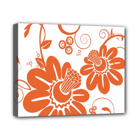 Floral Rose Orange Flower Canvas 10  X 8  by Alisyart
