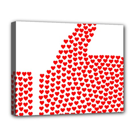 Heart Love Valentines Day Red Sign Deluxe Canvas 20  X 16   by Alisyart