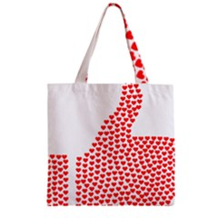 Heart Love Valentines Day Red Sign Zipper Grocery Tote Bag by Alisyart