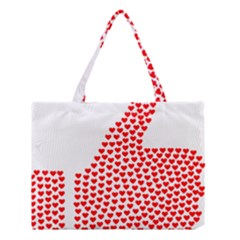 Heart Love Valentines Day Red Sign Medium Tote Bag by Alisyart