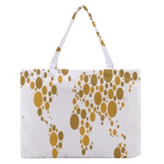 Map Dotted Gold Circle Medium Zipper Tote Bag by Alisyart