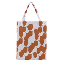 Machovka Autumn Leaves Brown Classic Tote Bag by Alisyart