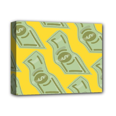 Money Dollar $ Sign Green Yellow Deluxe Canvas 14  X 11  by Alisyart