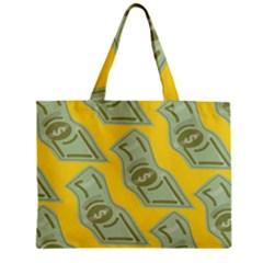 Money Dollar $ Sign Green Yellow Zipper Mini Tote Bag by Alisyart