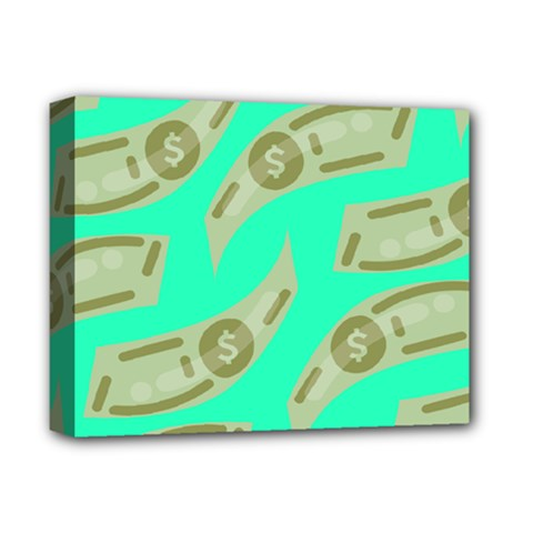 Money Dollar $ Sign Green Deluxe Canvas 14  X 11  by Alisyart