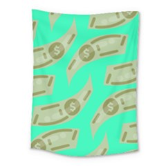 Money Dollar $ Sign Green Medium Tapestry by Alisyart