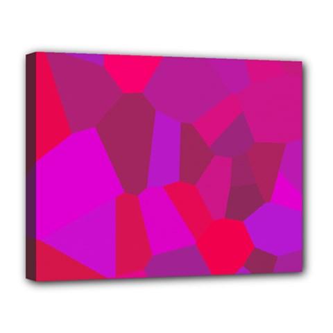 Voronoi Pink Purple Canvas 14  X 11  by Alisyart