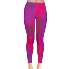 Voronoi Pink Purple Leggings  by Alisyart