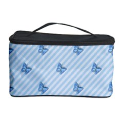 Blue Butterfly Line Animals Fly Cosmetic Storage Case by Alisyart
