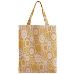 Wheels Star Gold Circle Yellow Zipper Classic Tote Bag by Alisyart