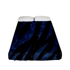 Skin3 Black Marble & Blue Stone Fitted Sheet (full/ Double Size) by trendistuff