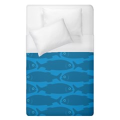 Fish Line Sea Beach Swim Red Blue Duvet Cover (single Size) by Alisyart
