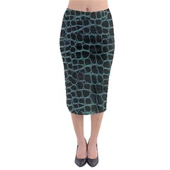 Fabric Fake Fashion Flexibility Grained Layer Leather Luxury Macro Material Natural Nature Quality R Midi Pencil Skirt by Alisyart
