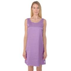 Purple Flagred White Star Sleeveless Satin Nightdress