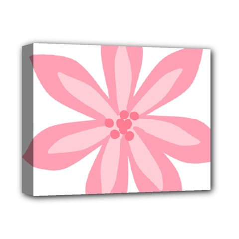 Pink Lily Flower Floral Deluxe Canvas 14  X 11  by Alisyart